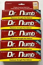 5X Dr Numb 5% Lidocaine Cream 30 gr Skin Numbing Tattoo/Removal Wax Exp. 11/2021