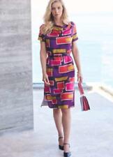💖 Ladies Kaleidoscope Geo Print Dress UK Size 10 EUR 38