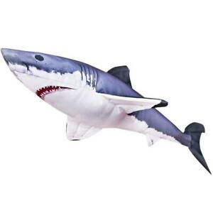 Gaby Soft Toy MINI GREAT WHITE SHARK * 53cm and 120cm long * Novelty Fish Gift *