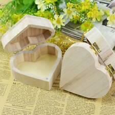 Fashion Chic Wooden Storage Box Heart Shape Wood Jewelry Box Wedding  Organizer-