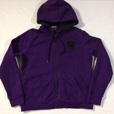 Lauren Ralph Lauren Purple Full Zip Patch Logo LS Hoodie Jacket Women's Medium M