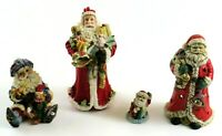 Santa Claus Collection, Ceramic and Resin Statues and Figurines, Mixed Lot of 4