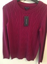 TOMMY HILFIGER $79 NEW 14268 Mara Long-Sleeve Cable-Knit Womens Sweater Top L