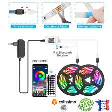 Bande LED Ruban LED RGB 5050 Décoration Flexible Télécommande Bluetooth 5M/10M