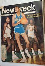 Feb 27 1967 Newsweek magazine Lew Alcindor UCLA Bruins be4 Kareem Abdul Jabber