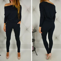 Women Long Sleeve Off The Shoulder Clubwear Sleeveless Playsuit Causal Jumpsuit