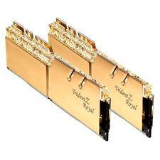 32GB G.Skill DDR4 Trident Z Royal Gold 3200Mhz PC4-25600 CL16 1.35V Kit 2x16GB