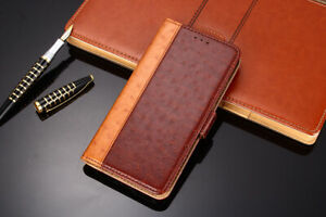 Magnetic Flip Wallet Ostrich textur PU Leather Case For Samsung Galaxy S20 FE