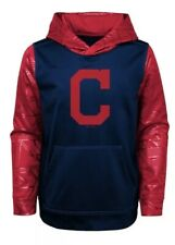 New NWT L/S Cleveland Indians Hoodie Sweatshirt Youth Boys Size X Small 4/5