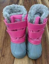 Snow Boots Winter Waterproof Pink Girls Campri Kids Size 10