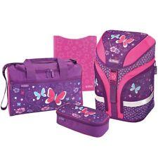 Herlitz Grundschulrucksack Motion Plus Purple Butterfly Schulranzen 4er-Set
