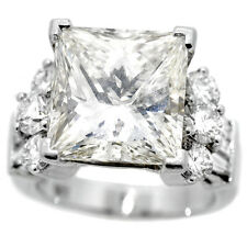18K White Gold 10.13 Carat Radiant Cut Diamond Ring GIA Lab Certified K, VS-1