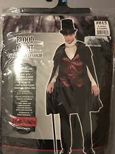 New in Bag Adult Mens Blood Count Dracula Halloween Costume Large