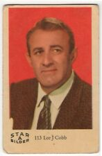 1960s Swedish Film Star Card Star Bilder A #113 US 12 Angry Men Actor Lee J Cobb