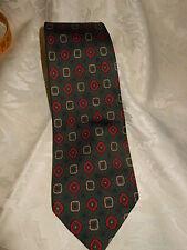 Cravatta Cravatte Tie fondo verde cm. 137x8 (33)