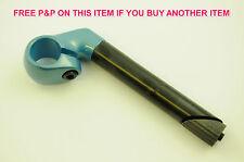 ADULT/CHILDS BIKE CLOSE UP HANDLEBAR STEM 22.2mm SHORT REACH SMART BLUE TOP