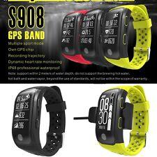 Smart Bracelet S908 GPS Band Bluetooth Watch Pedometer IP68 Waterproof Sports