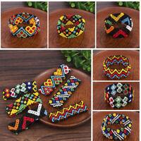 Charm Handmade Boho Women Patterned Beads Elastic Bracelet Wristband Holiday NEW