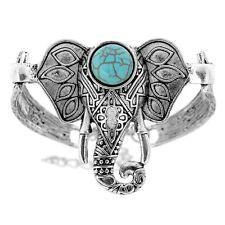 Womens Silver Bracelet Elephant Bangle Boho Tibetan Jewellery Womens Gift Ideas