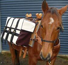 Pack Panniers Horse Panniers Sawbuck Decker Pack Saddle 1x Pair Canvas Panniers