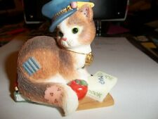 """Calico Kitten Figurine """"Thanks For Guiding Us Towards Our Goals"""""""