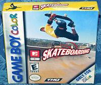 MTV Sports Skateboarding GBC New Factory Sealed Game Boy Color Game Skate Nes