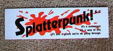 SPLATTERPUNK bumper sticker David Schow John Skipp Craig Spector RichardMatheson