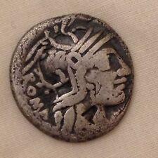 Roman silver denarius Roma metal detecting find