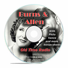 Burns & Allen, 758 Episodes Old Time Radio, Complete Set, Comedy OTR DVD MP3 F94