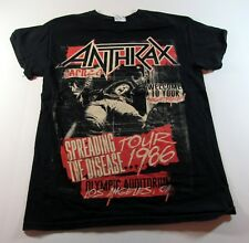 ANTHRAX Tour 2015 Mens Graphic T-Shirt Concert Dates 2 Sided S