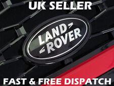 Range Rover Sport Black & Silver Front Grille Badge Land Rover Black Custom