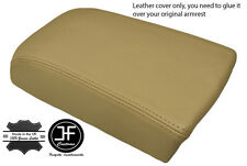 BEIGE LEATHER FITS VOLVO S70 V70 850 C70  ARM REST SKIN COVER REAL LEATHER