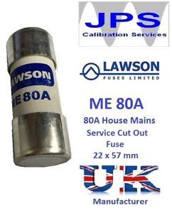 Lawson Fuse ME80 80A ME80A House Mains Service Cut Out Fuse JPSF831 VAT Invoice