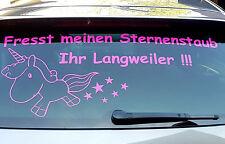 Autoaufkleber Einhorn Fresst meinen Sternenstaub Ihr Langweiler !!! 35cm x 80cm