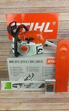 STIHL MS 271 40cm 1xSchwert 3xKetten Motorsäge Kettensägen