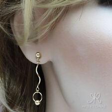 KOMFORT & ELEGANZ ● Kugel Ohrstecker Ohrringe mit Welle ygf 14k Gold 585