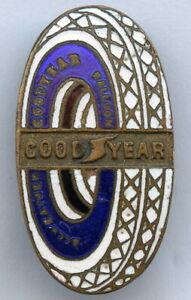 GOOD YEAR Car Tires Balloon Buttonhole Advertising Enamel Badge !!!