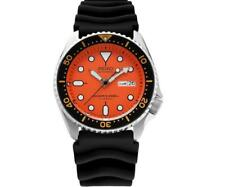 SEIKO SKX011J1 Automatic Sport Orange Dial Rubber 42mm Watch MADE IN JAPAN