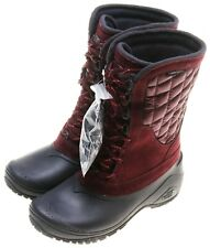 North Face Womens Thermoball Utility Mid-Insulated Waterproof Winter Boots;Red 6
