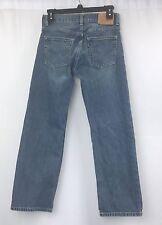 Levi Strauss 527 Low Boot Cut Red Tab Blue Wash Denim Jeans Pants Boys 27 X 27