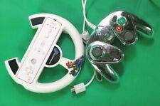 Lot Nintendo Wii Metal Mario Fight Pad Controller Original Wii Remote Mario Cart