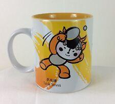 New! 2008 Beijing Olympic Friendlies Yellow Tennis Cup Mug Licensed Product