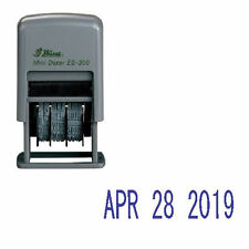 Shiny ES-300 Rubber Date Stamp - Self-Inking - Blue Ink (Date Only)
