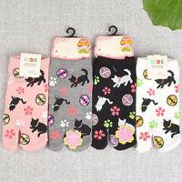 1Pair Child's Split Toe Sandal Short Japanese Socks Geta Kimono Flip Flop Cotton