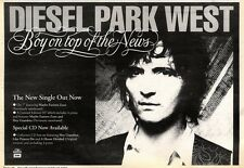 21/3/92 Pgn46 DIESEL PARK WEST : BOY ON TOP OF THE NEWS SINGLE ADVERT 7X10""