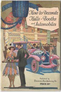 Paper Decorations for Automobiles Exhibition Halls Booths 1923 Dennison Catalog