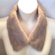 "Vintage Gray Fur Collar Stole Wrap 26"""
