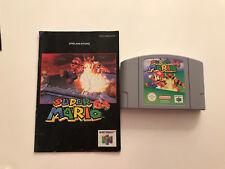 Nintendo 64 Spiel  - SUPER MARIO 64 mit Anleitung