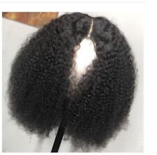 16 Inches Closure Afro kinky-curly wig human hair