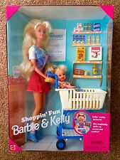 1995 colector de playline shoppin 'Diversión Barbie Y Kelly Playset